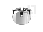 GB/T 6179-1986 1型六角开槽螺母
