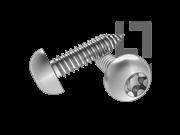 JIS B1128-2004 梅花槽圆头自攻螺钉C型