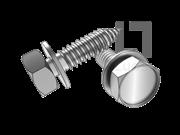 JIS B1129-2004 六角头自攻螺钉和平垫圈组合C型