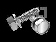 JIS B1129-2004 六角头自攻螺钉和平垫圈组合F型