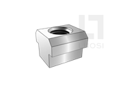 JIS B1167-1987 T形槽用螺母