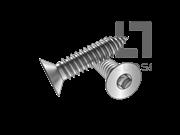 ASME/ANSI B18.6.3-2-2013 AB牙80°四方槽沉头自攻螺钉表2