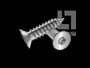 ASME/ANSI B18.6.3-2-2013 A牙80°四方槽沉头自攻螺钉表2