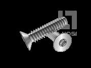 ASME/ANSI B18.6.3-2-2013 B牙80°四方槽沉头自攻螺钉表2