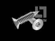 ASME/ANSI B18.6.3-2-2013 BP牙80°四方槽沉头自攻螺钉表2