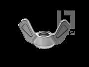 GB/T 62.4-2004 蝶形螺母 压铸