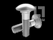 GB/T 801-1998 小半圆头低方颈螺栓