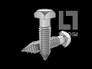 ASME/ANSI B18.2.1-14-2012 方头木牙螺钉 表14