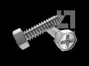 GB/T 9456-1988 十字槽凹穴六角自攻螺钉C型