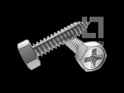 GB 9456 十字槽凹穴六角自攻螺釘C型