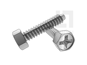 GB/T 9456-1988 十字槽凹穴六角自攻螺钉F型