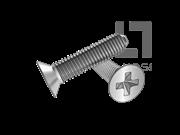 GB/T 6561-2014 十字槽沉头自挤螺钉(H型)