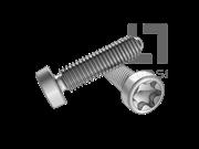 GB/T 6564-1986 梅花槽圆柱头自攻锁紧螺钉