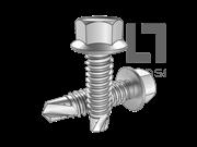 GB/T 15856.4-2002 六角法兰面自钻自攻螺钉