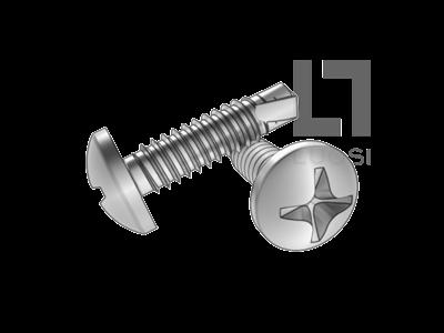 DIN 7504N十字槽盘头钻尾螺钉--SUS410/210/304/316