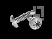 GB/T 15856.1-2002 米字槽盘头自钻自攻螺钉(Z型)