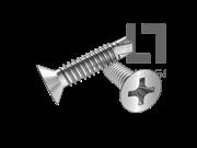 GB/T 15856.2-2002 十字槽沉头自钻自攻螺钉(H型)