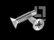 GB/T 15856.2-2002 米字槽沉头自钻自攻螺钉(Z型)