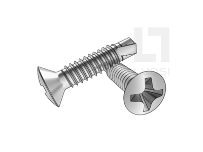 GB/T 15856.3米字槽半沉头自钻自攻螺钉--SUS410/210/304/316