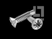GB/T 15856.3-2002 米字槽半沉头自钻自攻螺钉(Z型)