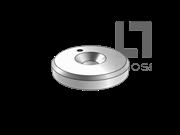 GB/T 891-1986 螺钉紧固轴端带孔挡圈