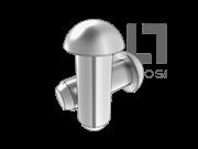 GB/T 13829.8-2004 圆头槽销 (A型)
