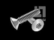 ASME/ANSI B18.6.3-8-2013 B牙80°四方槽半沉头自攻螺钉 表8