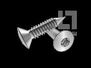 ASME/ANSI B18.6.3-8-2013 BP牙80°四方槽半沉头自攻螺钉 表8