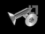 ASME/ANSI B18.6.3-10-2013 AB牙80°四方槽清根沉头自攻螺钉 表10