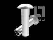 GB/T 873-1986 扁圆头半空心铆钉(有色金属)