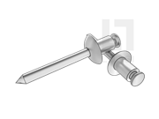 GB/T 12618.4-2006 开口型平圆头抽芯铆钉 51级