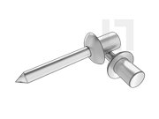 GB/T 12615.4-2004 封闭型平圆头轴芯铆钉 51级