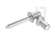 GB/T 12616.1-2004 120° 封闭型沉头抽芯铆钉 11级