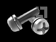 GB/T 9074.1-1988 十字槽盘头螺钉和平垫圈组合