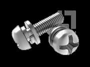 GB/T 9074.4-1988 十字槽盘头螺钉、平垫和弹垫组合