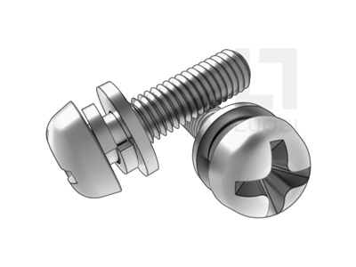 GB 9074.4 十字槽盤頭螺釘、平墊和彈墊組合