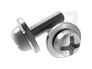 GB/T 9074.6-1988 十字槽小盘头螺钉和大平垫组合