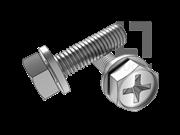 GB/T 9074.11-1988 十字槽凹穴六角头螺栓和平垫组合