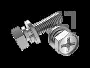 GB/T 9074.13-1988 十字槽凹穴六角头螺栓、弹垫和平垫组合