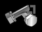 GB/T 9074.16-1988 六角头螺栓和外锯齿锁紧垫圈组合
