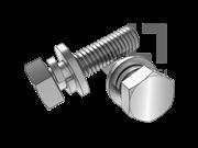 GB/T 9074.17-1988 六角头螺栓和弹垫、平垫组合