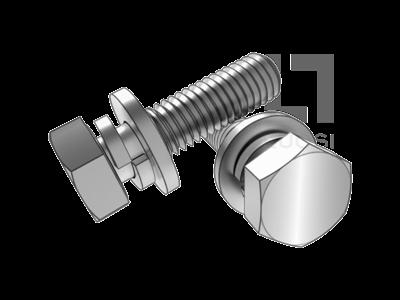 GB 9074.17 六角頭螺栓和彈墊、平墊組合