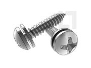 GB/T 9074.18-1988 十字槽盘头自攻螺钉和平垫组合C型