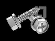 GB/T 9074.20-1988 十字槽凹穴六角头自攻螺钉和平垫组合C型