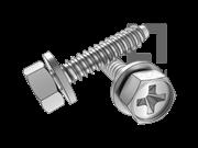 GB/T 9074.20-1988 十字槽凹穴六角头自攻螺钉和平垫组合F型