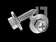 GB/T 9074.21-1988 十字槽凹穴六角头自攻螺钉和大平垫组合C型