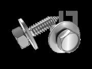 GB/T 9074.23-1988 六角头自攻螺钉和大平垫组合C型