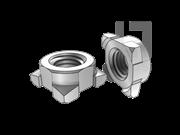 GB/T 13680-1992 焊接方螺母(B型)