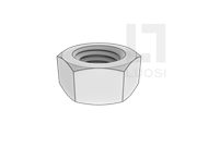 DIN 34814-1999 塑料制六角螺母