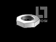DIN 80705-1990 小对边八角薄螺母